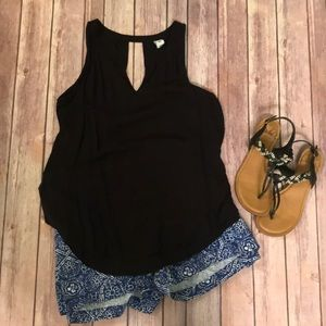 {Old Navy} Black Key Hole Tank Top